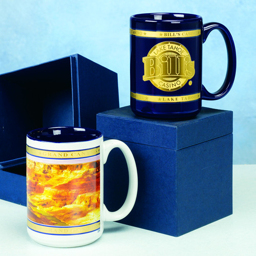 CUSTOM POLICE-FIRE-CORPORATE MUGS GOLD